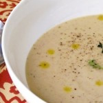 Roasted Cauliflower and Parmesan Soup
