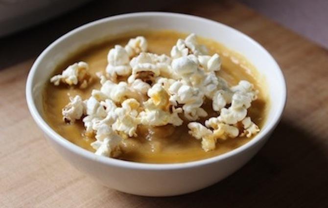 Popcorn Carrot Soup