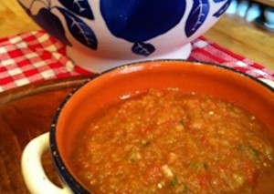 Fine-Grained Gazpacho With Tomatillos