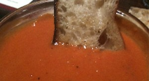 Tomato Basil with Parmesan Soup