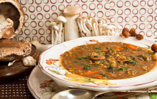 chef marjorie druker s mushroom lentil soup what 39 s the soup