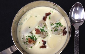Chef Eric Brennan's Parsnip Vichyssoise with Poached Cotuit Oysters