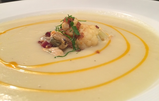 Chef Carolyn Johnson S Cauliflower And Mussel Soup What S The Soup