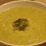 Creamless Leek and Asparagus Soup with Celeriac Root and Kefir