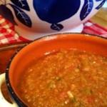 Fine-Grained Gazpacho With Tomatillos