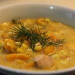 Salmon Butternut Squash Corn Chowder