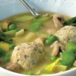 Spring Soup with Bread Dumplings