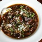 Chef Alex Yoder's Mushroom Soup with Farro and Grana Padano